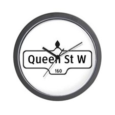 Queen St. W., Toronto - Canada  Wall Clock