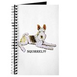Squirrel Alert Fox Terrier Journal