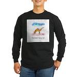 Cat Yoga Long Sleeve Dark T-Shirt