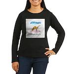 Cat Yoga Women's Long Sleeve Dark T-Shirt