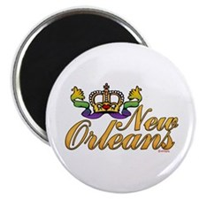 "New Orleans Mardi Gras Crown 2.25"" Magnet (100 pac"