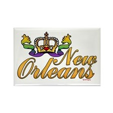 New Orleans Mardi Gras Crown Rectangle Magnet