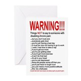 Pain Warning Greeting Cards (Pk of 10)