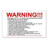 Pain Warning Rectangle Decal