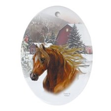 Horse Head Keepsake/Oval Ornament