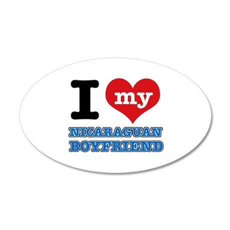 I love my Nicaraguan Boyfriend 35x21 Oval Wall Dec