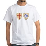 Zionist Crusader White T-Shirt