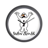 JUST DISCOUNTED... Snow Zombie! Wall Clock
