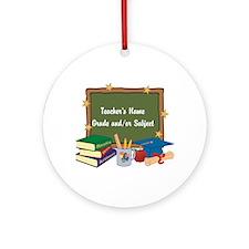 Custom Teacher Ornament (Round)