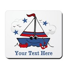 Cute Little Sailboat Personalized Mousepad