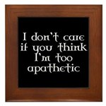 Apathetic Framed Tile