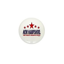 New Hampshire The Great Granite State Mini Button