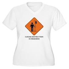 cancer destruction in progres Plus Size T-Shirt