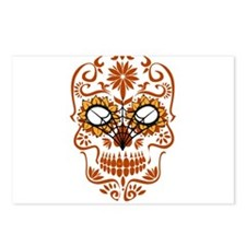 Orange Sugar Skull Postcards (Package of 8)