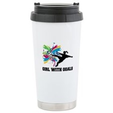 Girl with Goals Ceramic Travel Mug