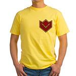 Masonic Square and Compasses Chevron Yellow T-Shir