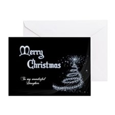 Christmas card for Daughter Greeting Cards