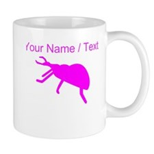 Custom Pink Beetle Silhouette Mugs
