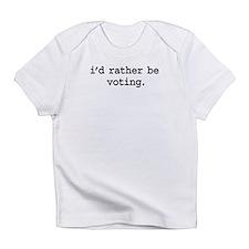 idratherbevotingblk.png Infant T-Shirt