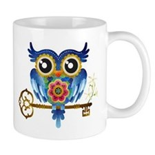 Owl on Skeleton Key Mug