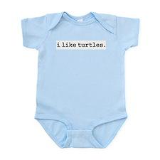 iliketurtles.jpg Infant Bodysuit