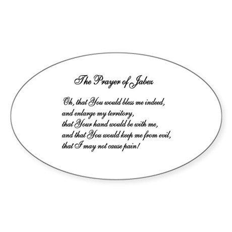 The Prayer of Jabez Oval Sticker
