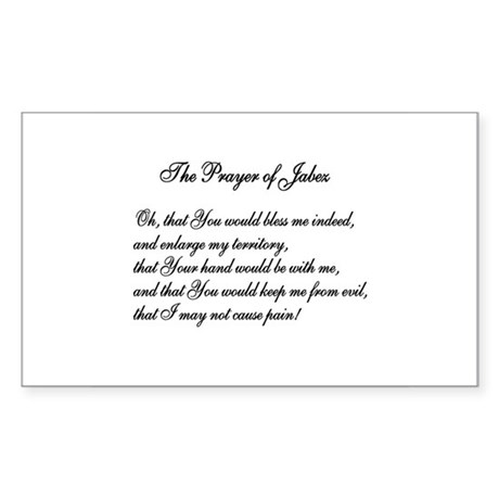 The Prayer of Jabez Rectangle Sticker