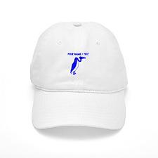 Custom Blue Vulture Silhouette Baseball Cap