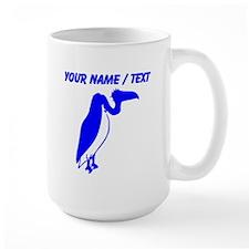 Custom Blue Vulture Silhouette Mugs