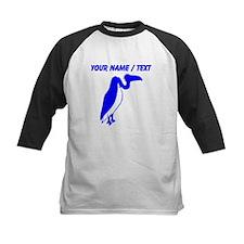 Custom Blue Vulture Silhouette Baseball Jersey