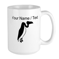 Custom Black Vulture Silhouette Mugs