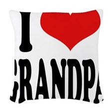 ilovegrandpablk.png Woven Throw Pillow
