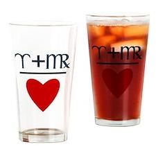 Aries + Virgo = Love Drinking Glass