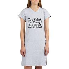 You think Im Crazy Women's Nightshirt