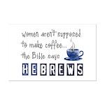 Bible Says Hebrews Mini Poster Print