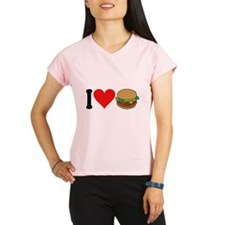 3-ilovehamburgersblk.png Performance Dry T-Shirt