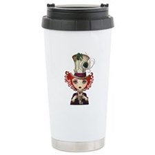 Lady Hatter Ceramic Travel Mug