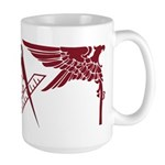 Masonic Eagles over square Large Mug