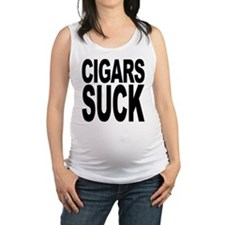 cigarssuck.png Maternity Tank Top