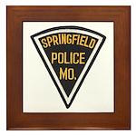 Springfield Police Framed Tile