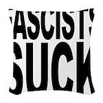 fascistssuck.png Woven Throw Pillow
