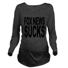 foxnewssucksblk.png Long Sleeve Maternity T-Shirt
