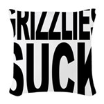 grizzliessuck.png Woven Throw Pillow