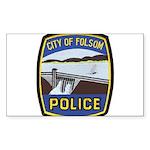 Folsom Police Rectangle Sticker