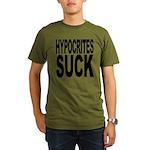 hypocritessuck.png Organic Men's T-Shirt (dark)