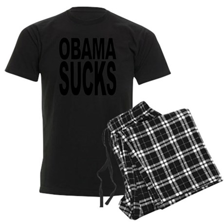 obamasucksblk.png Men's Dark Pajamas