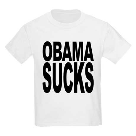 obamasucksblk.png Kids Light T-Shirt
