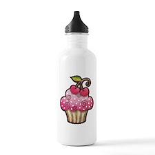 Cherry Berry Cupcake Water Bottle