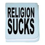 religionsucksblk.png baby blanket