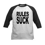 rulessuck.png Kids Baseball Jersey